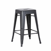 Clelia 2 Matte Black Metal Counter Height Stools by AC Pacific