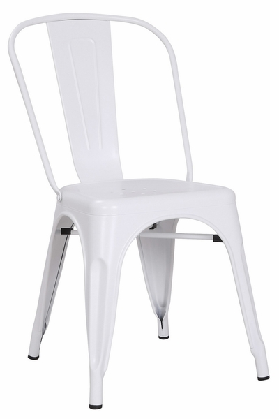 Cole 2 Matte White Metal Side Chairs by AC Pacific