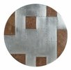 Brancaster Brown Top Grain Leather/Aluminum Bar Table by Acme