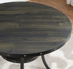 Wallace Dark Grey Wood Round Counter Height Table by Crown Mark