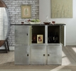 Brancaster Retro Brown Marble/Aluminum Bar Table by Acme