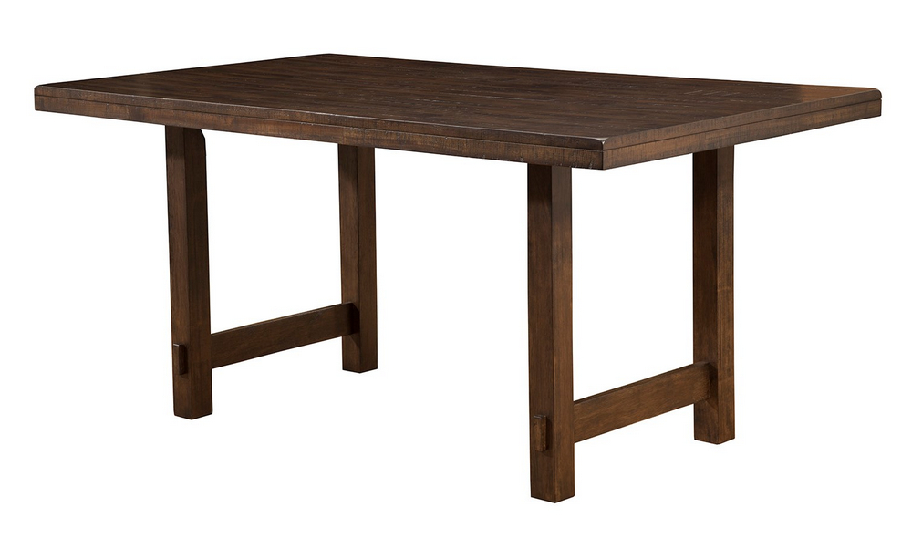 Emery Walnut Wood Rectangular Dining Table By Alpine Furniture