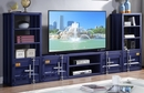 Cargo Container Style 3-Pc Blue Metal Entertainment Center by Acme