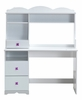Meyer White Wood Desk with Hutch by Acme