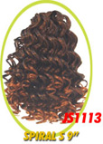 """Beauti Collection Synthetic Drawstring Ponytail Spiral Small 9"""" JS1113"""