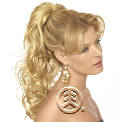 Lord & Cliff Think Pink Drawstring and Clip Hair Piece Helena-S
