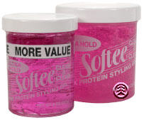Softee Protein Styling Gel Ultra Hold Pink