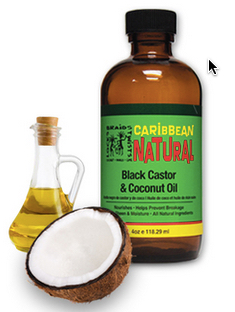 Caribbean Natural Braids Locks Twists Black Castor & Coconut Oil 4oz