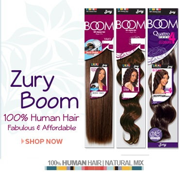 Zury Boom 100% Human Hair Natural Mix Hair