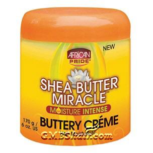 African Pride SHEA BUTTER MIRACLE Buttery Creme Hair Moisturizer 6oz