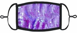 Periwinkle Sequin Fabric Face Mask
