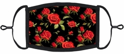 Red Roses Fabric Face Mask