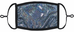 Dark Silver Hologram Fabric Face Mask