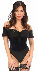 Lavish Dark Purple Velvet Mini Cincher