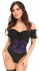 Lavish Purple w/Black Lace Overlay Mini Cincher - IN STOCK