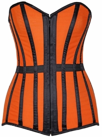 Lavish Orange Sheer Over Bust Corset