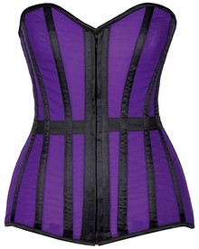 Lavish Purple Sheer Over Bust Corset