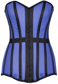 Lavish Blue Sheer Over Bust Corset
