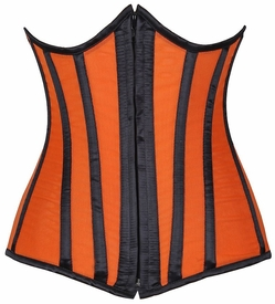 Lavish Orange Sheer Under Bust Corset