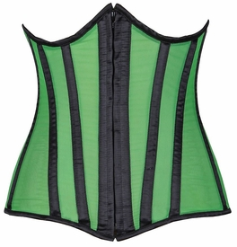 Lavish Green Sheer Under Bust Corset
