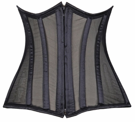 Lavish Black Sheer Under Bust Corset