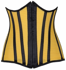 Lavish Yellow Sheer Under Bust Corset