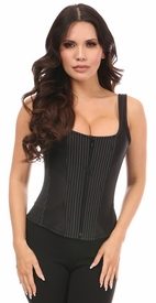 Top Drawer Pinstripe Steel Boned Corset w/Straps