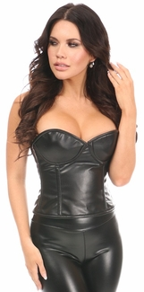Lavish Faux Leather Underwire Bustier - IN STOCK