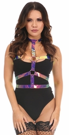 Rainbow Holo Body Harness - IN STOCK