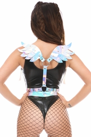 Blue/Purple Holo Body Harness w/Wings - IN STOCK