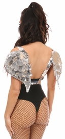Silver Metallic Angel Wing Harness - IN STOCK