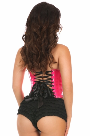 Lavish Pink Patent PVC Underwire Bustier - IN STOCK