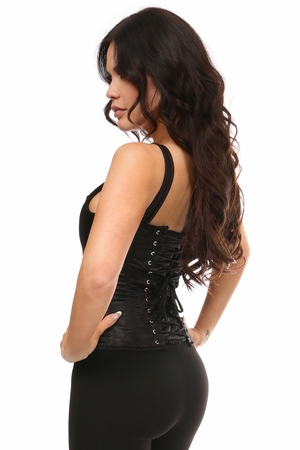 Top Drawer Gold Sequin Steel Boned Corset w/Straps