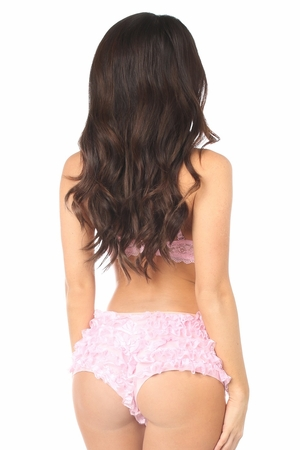 Lt Pink Lace Ruffle Panty - IN STOCK