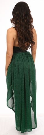 Green Glitter Hi Low Skirt