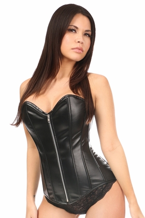 Lavish Wet Look Overbust Corset - IN STOCK
