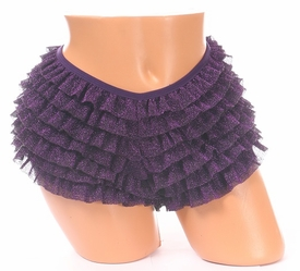 Purple Glitter Ruffle Panty - IN STOCK