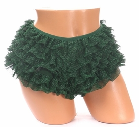 Green Glitter Ruffle Panty - IN STOCK