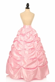 Lt Pink Satin Pick-Up Long Skirt