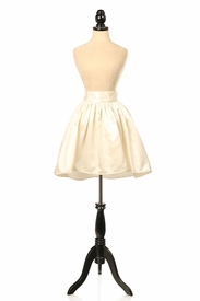 Ivory Satin Short Skirt