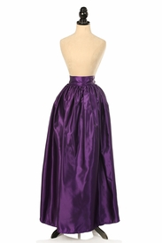 Plum Satin Long Skirt