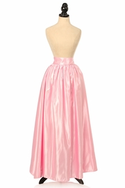 Lt Pink Satin Long Skirt