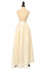 Ivory Satin Long Skirt