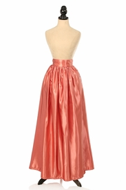 Mauve Satin Long Skirt