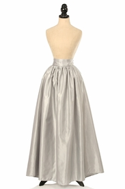 Silver Satin Long Skirt