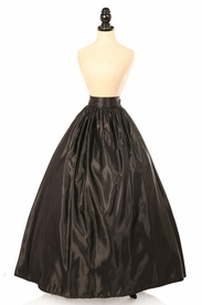 Black Satin Long Skirt