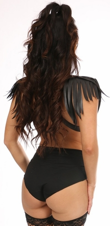Black/Gold Fringe Shoulder Harness - IN STOCK