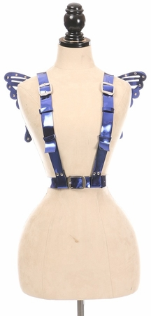 Blue Metallic Butterfly Wings Harness