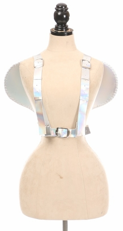 Silver Holo Angel Wing Harness - IN STOCK