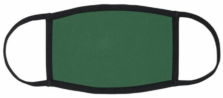 Dark Green Fabric Face Mask
